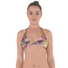 Garden Abstract Halter Neck Bikini Top