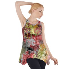 Garden Abstract Side Drop Tank Tunic
