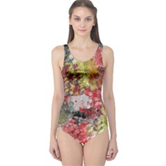 Garden Abstract One Piece Swimsuit