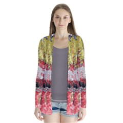 Garden Abstract Drape Collar Cardigan