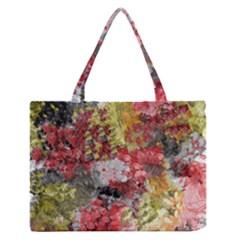 Garden Abstract Zipper Medium Tote Bag