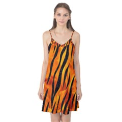 Skin3 Black Marble & Fire (r) Camis Nightgown