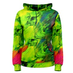 Neon Rainbow Green Pink Blue Red Painting Women s Pullover Hoodie