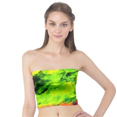 Neon Rainbow Green Pink Blue Red Painting Tube Top