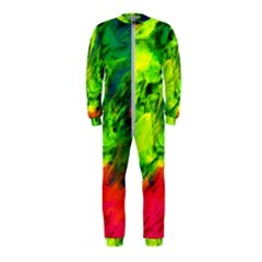 Neon Rainbow Green Pink Blue Red Painting Onepiece Jumpsuit (kids)