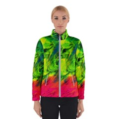 Neon Rainbow Green Pink Blue Red Painting Winterwear