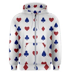 Playing Cards Hearts Diamonds Men s Zipper Hoodie