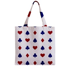 Playing Cards Hearts Diamonds Zipper Grocery Tote Bag