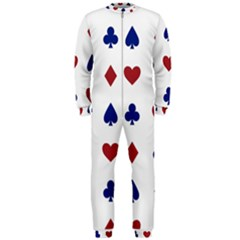 Playing Cards Hearts Diamonds Onepiece Jumpsuit (men)