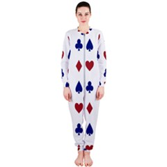 Playing Cards Hearts Diamonds Onepiece Jumpsuit (ladies)