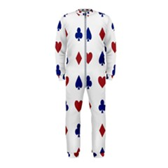 Playing Cards Hearts Diamonds Onepiece Jumpsuit (kids)