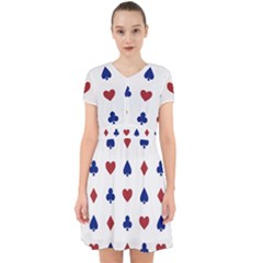 Playing Cards Hearts Diamonds Adorable In Chiffon Dress