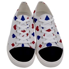 Playing Cards Hearts Diamonds Women s Low Top Canvas Sneakers