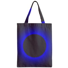 Pure Energy Black Blue Hole Space Galaxy Zipper Classic Tote Bag