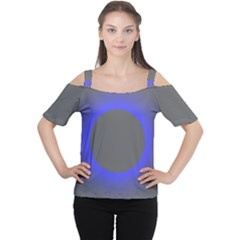 Pure Energy Black Blue Hole Space Galaxy Cutout Shoulder Tee
