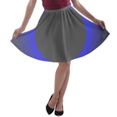 Pure Energy Black Blue Hole Space Galaxy A Line Skater Skirt