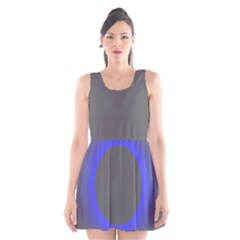 Pure Energy Black Blue Hole Space Galaxy Scoop Neck Skater Dress