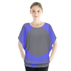 Pure Energy Black Blue Hole Space Galaxy Blouse
