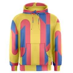 Rainbow Sign Yellow Red Blue Retro Men s Pullover Hoodie