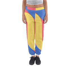 Rainbow Sign Yellow Red Blue Retro Women s Jogger Sweatpants