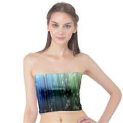 Numerical Animation Random Stripes Rainbow Space Tube Top