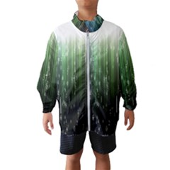 Numerical Animation Random Stripes Rainbow Space Wind Breaker (kids)