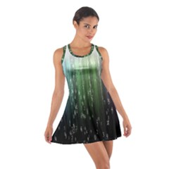 Numerical Animation Random Stripes Rainbow Space Cotton Racerback Dress