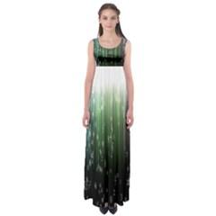 Numerical Animation Random Stripes Rainbow Space Empire Waist Maxi Dress