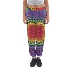 Rainbow Mandala Circle Women s Jogger Sweatpants