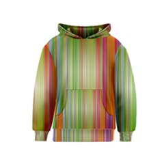 Rainbow Stripes Vertical Colorful Bright Kids  Pullover Hoodie