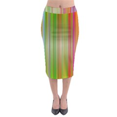 Rainbow Stripes Vertical Colorful Bright Midi Pencil Skirt