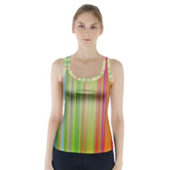 Rainbow Stripes Vertical Colorful Bright Racer Back Sports Top