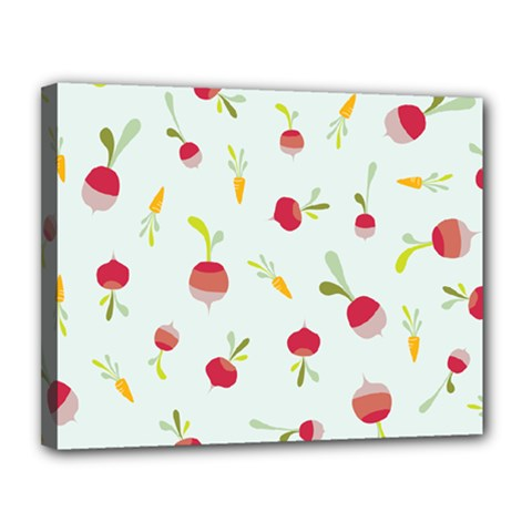 Root Vegetables Pattern Carrots Canvas 14  X 11