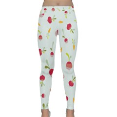 Root Vegetables Pattern Carrots Classic Yoga Leggings