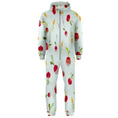 Root Vegetables Pattern Carrots Hooded Jumpsuit (men)