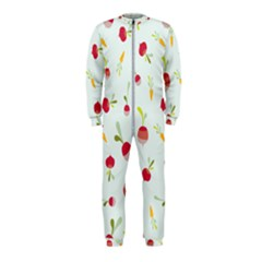 Root Vegetables Pattern Carrots Onepiece Jumpsuit (kids)