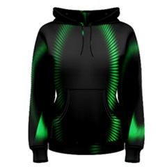 Rotating Ring Loading Circle Various Colors Loop Motion Green Women s Pullover Hoodie
