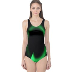 Rotating Ring Loading Circle Various Colors Loop Motion Green One Piece Swimsuit
