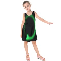 Rotating Ring Loading Circle Various Colors Loop Motion Green Kids  Sleeveless Dress