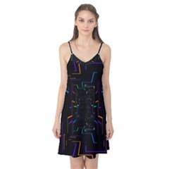 Seamless 3d Animation Digital Futuristic Tunnel Path Color Changing Geometric Electrical Line Zoomin Camis Nightgown
