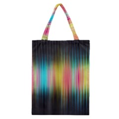 Sound Colors Rainbow Line Vertical Space Classic Tote Bag