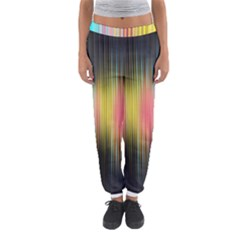 Sound Colors Rainbow Line Vertical Space Women s Jogger Sweatpants