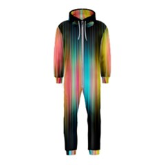 Sound Colors Rainbow Line Vertical Space Hooded Jumpsuit (kids)