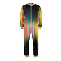 Sound Colors Rainbow Line Vertical Space Onepiece Jumpsuit (kids)