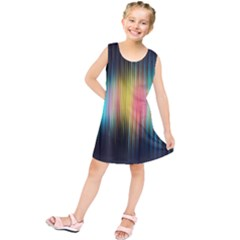 Sound Colors Rainbow Line Vertical Space Kids  Tunic Dress
