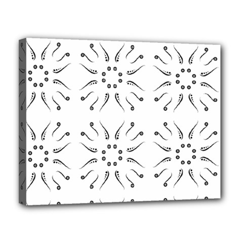 Squid Flower Floral Polka Dots Sunflower Canvas 14  X 11