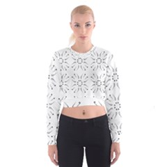 Squid Flower Floral Polka Dots Sunflower Cropped Sweatshirt