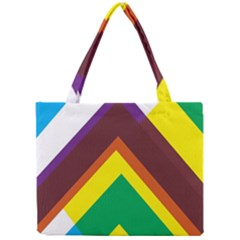 Triangle Chevron Rainbow Web Geeks Mini Tote Bag