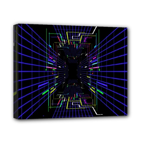 Seamless 3d Animation Digital Futuristic Tunnel Path Color Changing Geometric Electrical Line Zoomin Canvas 10  X 8