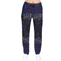 Seamless 3d Animation Digital Futuristic Tunnel Path Color Changing Geometric Electrical Line Zoomin Drawstring Pants